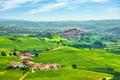 Langhe vineyards panorama, Roddi village, Piedmont, Italy Europe. - PhotoDune Item for Sale