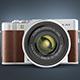 Fuji Mirrorless Camera Element 3D & Cinema 4D Model - 3DOcean Item for Sale