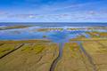 Aerial view Tidal Marshland national park Waddensea - PhotoDune Item for Sale