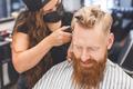 Men's haircut in a barbershop. Hair care - PhotoDune Item for Sale