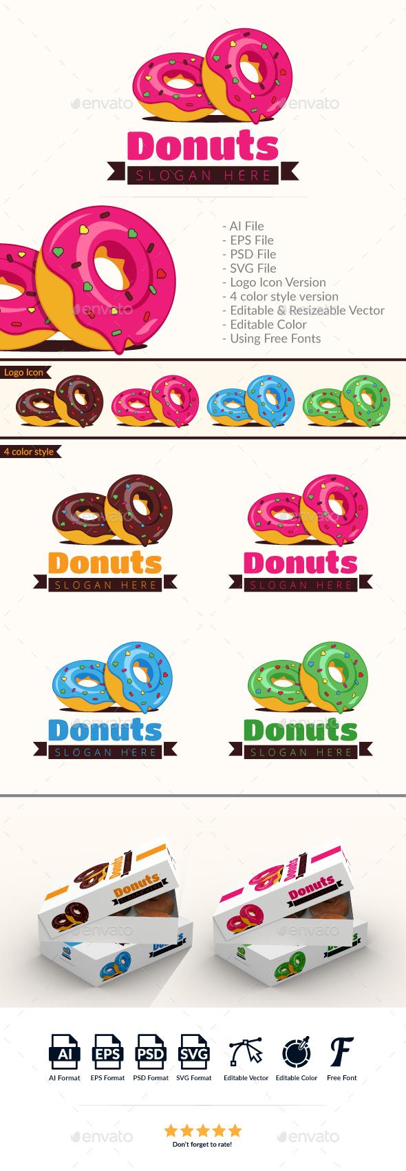 Donut Logo Template