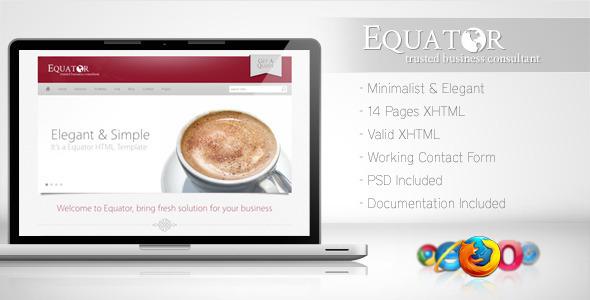Equator - Minimalist Business Template 5