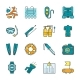 Diving Equipment, Accessories and Scuba Gear Flat - GraphicRiver Item for Sale