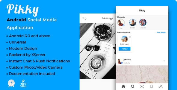 Pikky   Android Instagram-like Social Media Application [XServer] Download