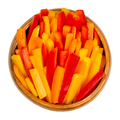 Bell pepper slices, cut sweet pepper in a wooden bowl - PhotoDune Item for Sale