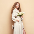 Young woman in white spring coat - PhotoDune Item for Sale