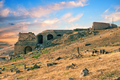 The ruins of the ancient city of Hierapolis at sunset - PhotoDune Item for Sale