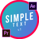 Simple Motion Text | Premiere Pro