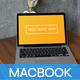 MacBook Pro 13 Loft Cafe Table Hi-Res Mockup - GraphicRiver Item for Sale