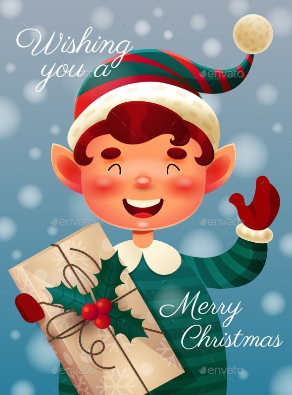 Wishing You a Merry Christmas Card Design