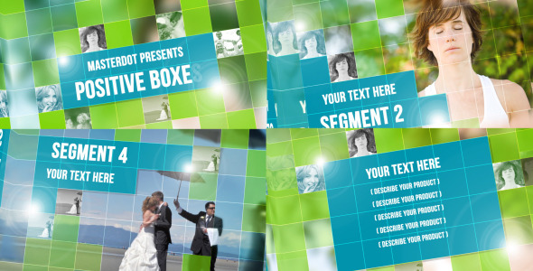 Positive Boxes | After Effects Project download Positive 20Boxes Preview