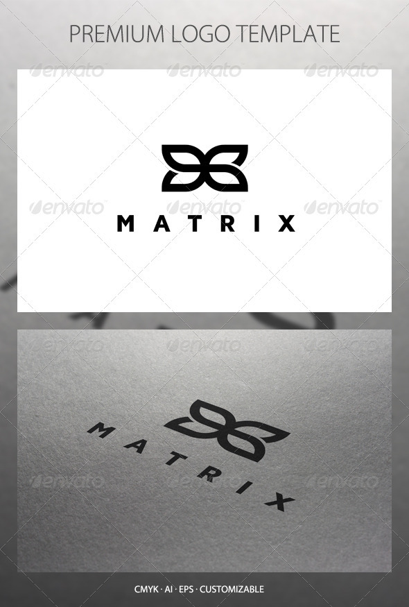 Matrix - Abstract Symbol Logo Template