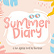 Summer Diary - GraphicRiver Item for Sale