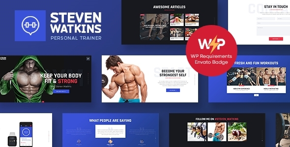Steven Watkins | Personal Gym Trainer & Nutrition Coach WordPress Theme