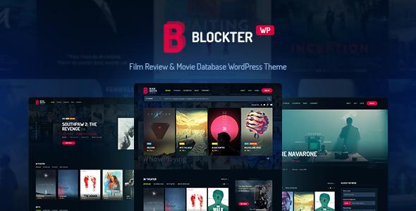 Blockter - Movie database WordPress Theme