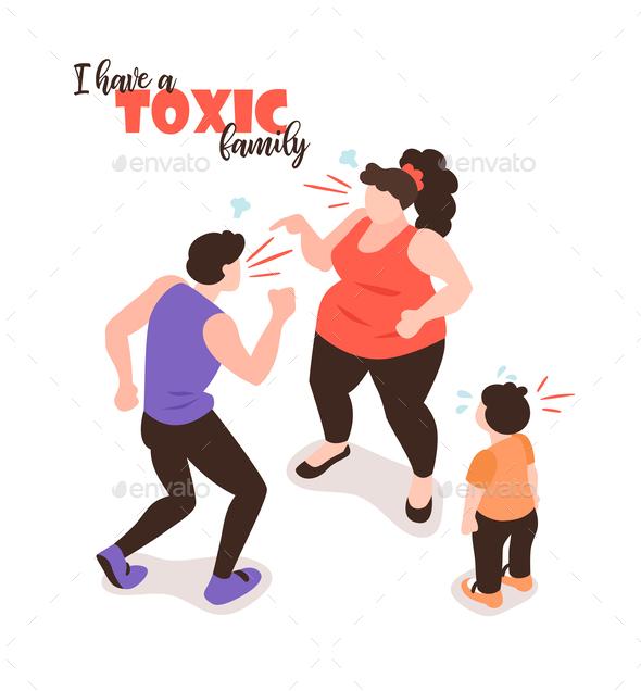 Toxic Family Isometric Background