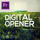 Modern Digital Opener for Premiere Pro - VideoHive Item for Sale