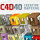40 Cinema 4d Creative Material Pack - 3DOcean Item for Sale