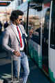 Black Businessman waiting for the next train - PhotoDune Item for Sale