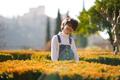 Eight-year-old girl having fun in an urban park - PhotoDune Item for Sale