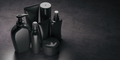 Set of black  luxury cosmetic product. - PhotoDune Item for Sale