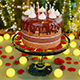 Cake with candles and rose petals - 3DOcean Item for Sale