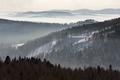 Foggy view of Beskid Sadecki mountain range in Poland - PhotoDune Item for Sale