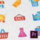 Shopping and Commerce Modern Flat Animated Icons - Mogrt - VideoHive Item for Sale