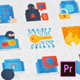 Cyber Security Modern Flat Animated Icons - Mogrt - VideoHive Item for Sale