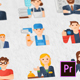 Occupations & Jobs Modern Flat Animated Icons - Mogrt - VideoHive Item for Sale