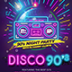 Disco 90's Party - GraphicRiver Item for Sale