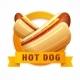 Hotdog Logo. Vector Illustration. - GraphicRiver Item for Sale