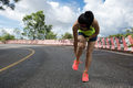 Woman  runner suffering with pain on sports running knee injury - PhotoDune Item for Sale