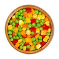 Mixed vegetables, veggie mix in a wooden bowl - PhotoDune Item for Sale