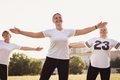 Three fit happy women working out in a field - PhotoDune Item for Sale