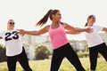 Group of happy young women fitness training - PhotoDune Item for Sale