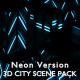 3D City Scene Pack Neon - VideoHive Item for Sale