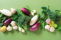 Fresh Raw Vegetables on the Green Table - PhotoDune Item for Sale