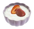 Bowl of yogurt with strawberry - PhotoDune Item for Sale