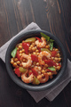 Shrimp with chickpea and pepper stew - PhotoDune Item for Sale