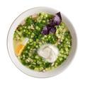 Okroshka bowl isolated top view - PhotoDune Item for Sale