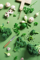 Fresh Organic Vegetables on the Green Table, Raw Ingredients for Cooking - PhotoDune Item for Sale