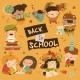 Happy Children with School Equipment - GraphicRiver Item for Sale