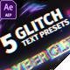 5 Glitch Title Presets - VideoHive Item for Sale