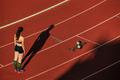shadows woman runners run - PhotoDune Item for Sale