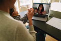 Women with their kids having a video call on laptop - PhotoDune Item for Sale