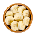 Fresh banana slices in a wooden bowl - PhotoDune Item for Sale