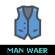 Man Fashion Line with Color - GraphicRiver Item for Sale
