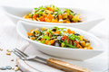 Mixed salad of roasted vegetables with rocket and seeds - PhotoDune Item for Sale