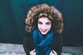 Beautiful portrait of an attractive redhead woman wearing winter clothes - PhotoDune Item for Sale